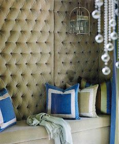 Dalliance Design | A Love Affair With Design: UPHOLSTERED WALLS