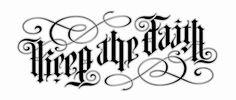 keep the faith, life and death ambigram - John Langdon - Ambigram Tattoo, Tattoo Script, Tattoo Fonts, Graffiti Lettering, Typography Art, Lettering Styles, Lettering Design, Chicano, John Langdon