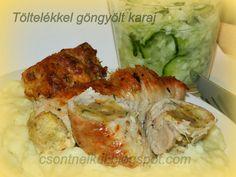Csont nélkül...csak egyszerűen: Töltelékkel göngyölt karaj Chicken, Food, Drinks, Drinking, Beverages, Essen, Drink, Meals, Yemek