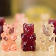 These wine gummy bears are happy hour in a snack. This shows you how to make red wine, rose, and white wine bears.