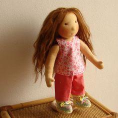 Bambole waldorf di stoffa - waldorf dolls : bambole waldorf e capelli in alpaca suri