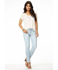 Floral Skinny Jeans | FOREVER 21 - 2061146189
