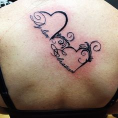 Children's names in hearts. #tattoo #tattoos #heart #lettering #girl # ...
