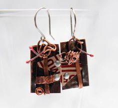 SALE  15% OFF  Antique copper and red collage by Sandelius on Etsy