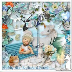 Shabby Blue Enchanted Forest Kit (PU) de KittyScrap