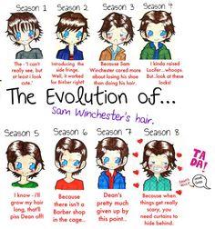 SUPERNATURAL: The Evolution of Sam Wincester's Hair