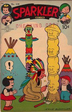 1954 Sparkler Comics #119 United Features FILE COPY, CHECKING COPY Comic Book