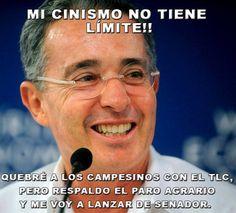Uribe: Mi cinismo no tiene limite!