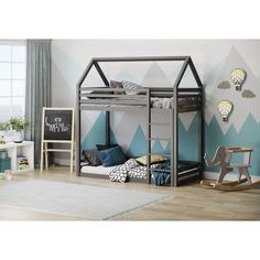 Isabelle & Max What a better way to send your little ones off to bed than with the this bunk bed. It is low to the ground bottom bed, which is great for your young ones. Bunk Bed Canopies, Cabin Bunk Beds, Futon Bunk Bed, Triple Sleeper Bunk Bed, High Sleeper Bed, Bed Frame With Drawers, Bunk Beds With Drawers, Convertible Toddler Bed, Convertible Bunk Beds