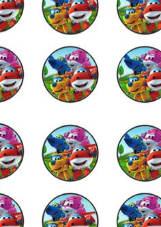 FREE Super Wings Birthday Party Cupcake Toppers File