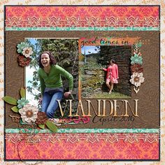 Digital layout using Boheme Dream by Amber Shaw, Studio Flergs and Studio Basic at Sweet Shoppe Designs