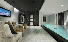 Spa calmant dans le chalet de luxe