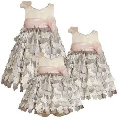 Bonnie Jean LITTLE GIRLS 4-6X SILVER IVORY PINK DIE CUT FLOWER OVERLAY Special Occasion Flower Girl Party Dress Bonnie Jean, http://www.amazon.com/dp/B008CFZ8DY/ref=cm_sw_r_pi_dp_Ye23pb1Z4VS6Y