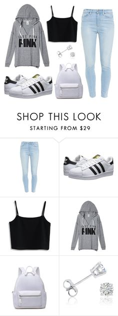 """""""School Day (Em N Inspired)"""" by susanna-trad on Polyvore featuring Paige Denim, adidas Originals, Chicwish and Amanda Rose Collection"""