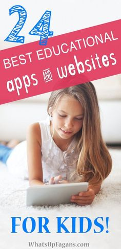 24 Best Educational Apps and Websites for Kids : Awesome list! 24 educational apps and educational websites for kids! Most focus on reading and mathematics skills and info on if they are free or paid. So excited to have this! Educational Websites For Kids, Parenting Websites, Parenting Articles, Parenting Classes, Parenting Toddlers, Parenting Books, Good Parenting, Kids Websites, Parenting Strong Willed Child