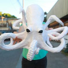 Learn how to make a creepy paper mache octopus out of nothing but paper, paste…