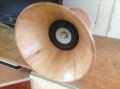 DIY- Konisches Horn aus Bambus mit 4 Zoll Tangband Breitbänder gebaut von Roberto Weberndorfer 2017