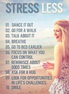 Release the stress in your life! #stress #anxiety #calming #relief #advice
