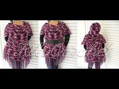Crochet Poncho Shirt (English Tutorial part Crochet Fish, Finger Crochet, Crochet Geek, Crochet Cardigan, Crochet Shawl, Crochet Hooks, Free Crochet, Crochet Top, Knitting Videos