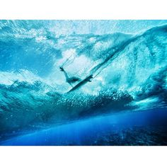 Photo- @andy_bardon /// Monday Mind Surf /// A local surfer pulls into a wave at Teahupo'o, Tahiti.  This notoriously dangerous wave dumps thousands of gallons of water onto a razor sharp reef, and is highly regarded as one of the ultimate test pieces in the surfing world. Shot in the French Polynesia with support from @natgeo