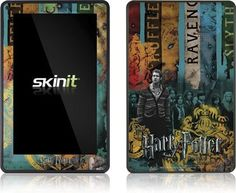 Skinit Harry Potter Houses Vinyl Skin for Amazon Kindle Fire by Skinit. $19.99. IMPORTANT: Skinit skins, stickers, decals are NOT A CASE. Our skins are VINYL SKINS that allow you to personalize and protect your device with form-fitting skins. Our adhesive backing can be applied and removed with no residue, no mess and no fuss. Skinit skins are engineered specific to each device to take into account buttons, indicator lights, speakers, unique curvature and will not...