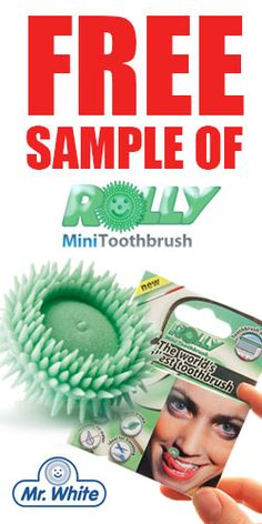 """Win A Free Sample of Rolly Mini Toothbrush (Only 50 mailed out monthly), OR sign up for more info about this cool disposable toothbrush you roll around in your mouth!  [Fans of the sci-fi series """"Farscape"""" will especially appreciate this innovation!]"""