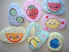 Kawaii Fruit Decorative Rocks