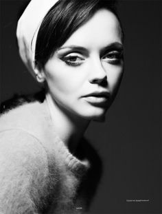 Christina Ricci looking beautiful (as always) in this 60s style shoot for Oyster magazine | via Fashion Gone Rogue