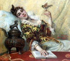 La charmeuse  Léon Herbo, 1890, Collection privée