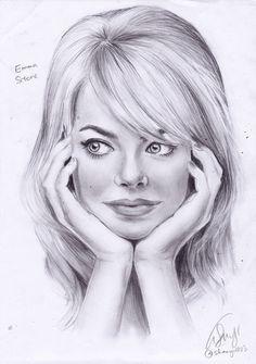 ChamofSec: PORTRAIT DRAWING Emma Stone