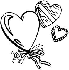 Valentine's Day With Heart Coloring Pages Heart Coloring Pages, Online Coloring Pages, Cool Coloring Pages, Free Coloring, Coloring Pages For Kids, Kids Coloring, Valentines Day Coloring Page, Valentines Day Party, Heart Shapes
