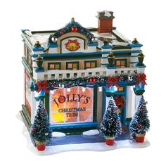 The Jolly Christmas Shop - Dept 56 Snow Village Series Sounds Of Christmas