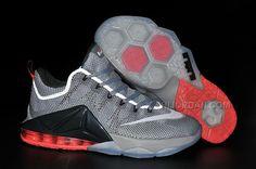 Nike LeBron 12 Low Wolf Grey/White-Dark Grey-Hot Lava. Nike ShoesNike  Basketball ...
