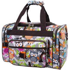 Gray Owl Town Print NGIL Carry on Shoulder 17' Duffle Bag *** Check out the image by visiting the link. (This is an Amazon Affiliate link and I receive a commission for the sales)