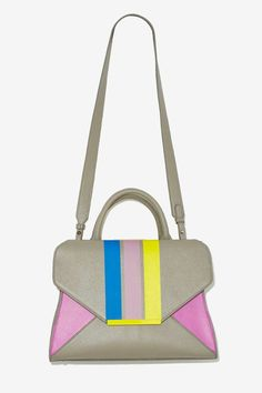 Chroma Striped Envelope Bag - Bags + Backpacks |  | Bags + Backpacks