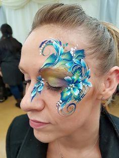 One stroke flower eye design