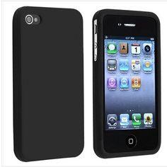 Купить товарДля Apple , iPhone 4 4S G OS черный силиконовой резины мягкий чехол в категории Сумки и чехлы для телефоновна AliExpress.