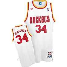 08c7e88ddb8d Adidas NBA Houston Rockets 34 Hakeem Olajuwon Throwback Soul Swingman White  Jersey Cheap Nba Jerseys