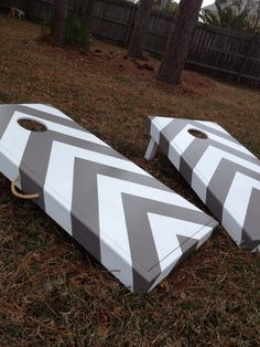 Chevron striped cornhole game by SunDaysDesigns on Etsy, $200.00
