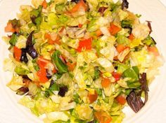 Patsy's Italian Restaurant, NY: Patsy's Recipe for Chopped Salad Healthy Italian Recipes, Sicilian Recipes, Italian Foods, Clean Eating Meal Plan, Clean Eating Recipes, Patsy Recipe, Italian Restaurants Nyc, Italian Appetizers, Chopped Salad