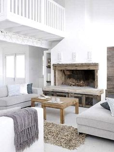 white + fireplace
