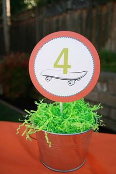Skateboarding Birthday Party Ideas | Photo 2 of 14 | Catch My Party