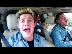 One direction carpool karaoke. Funny