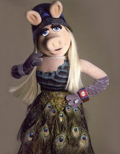 she is taking her style cue from the muppet chick in the band