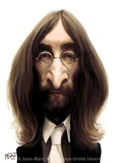 John Lennon (by jmbrot)  One of the BEST cartoonists ever. ★ Find more at http://www.pinterest.com/competing/