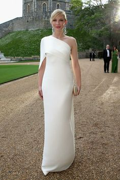 cate blanchett robe blanche ralph lauren Robe De Star, Belle Robe De  Soirée, Robe 2769941edbcf