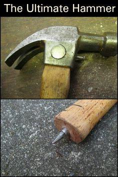 The Ultimate Hammer – Craft projects for every fan! Cool Tools, Diy Tools, Easy Craft Projects, Project Ideas, Homemade Tools, Woodworking Jigs, Carpentry, Tools And Equipment, Dremel