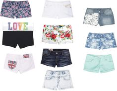 """Delia's shorts"" by ameliatomlinson ❤ liked on Polyvore"