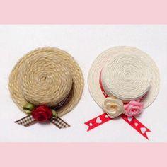 キャップ活用法⑥:ミニ麦わら帽子づくり