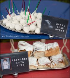 Love it!  #StarWars #Party #Buns #PrincessLeia